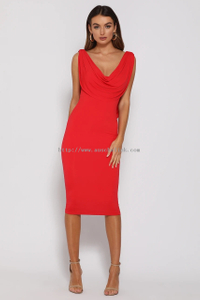 FLAME DRESS-RED