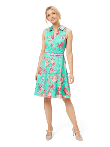 POMPEII FLORAL SHIRT DRESS